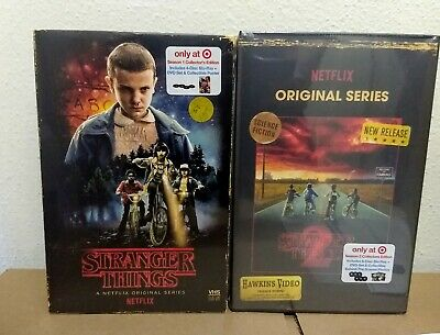 Stranger Things Exclusive Season 1 & 2 Blu-Ray/DVD VHS Packaging Brand New!