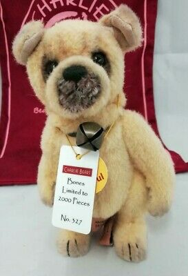 SPECIAL OFFER! Charlie Bears 2015 Minimo BONES Dog (Limited No 327/2000) RRP £90
