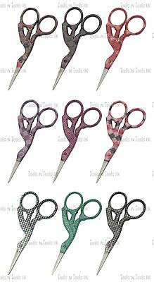 "9 Pattern Style 3.5"" Multi Purpose Bird/ Stork Small Beauty Embroidery Scissors"