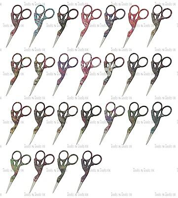 "25 Random Style 3.5"" Multi Purpose Bird/ Stork Small Beauty Embroidery Scissors"