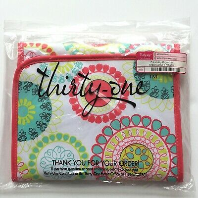 NIP Thirty-One Fold-It-Up Organizer Citrus Medallion Print Tablet Sleeve Case