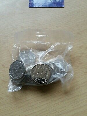 Full Bag Sherlock Holmes 50p Coins.  Uncirculated (2019). 20 Coins. Bank Sealed.