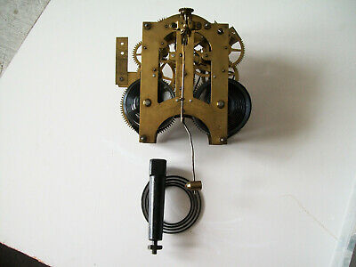 Antique Ansonia 8 Day Strike Clock Movement Parts Or Repair