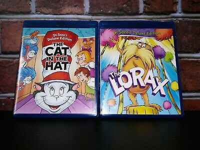 Dr. Seuss's Deluxe Edition THE CAT IN THE HAT (1971) & THE LORAX (1972) [BluRay]