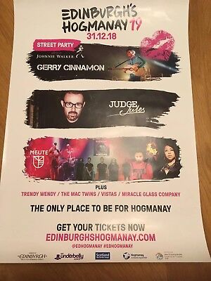 Gerry Cinnamon - Rare Hogmanay Gig poster,Edinburgh, January 2019