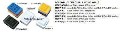 Plasdent Dental Bondwell Mixing Wells Disposable 2-Well 4-Well White Black Assor