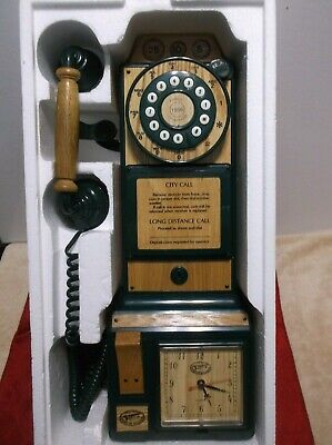 Vintage Spirit of St Louis Wall Phone Telephone Wood and Metal Finish Replica