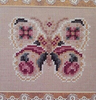 Just Nan Rose Wings Counted Cross Stitch Chart Ornamental Treasures V JNOT05
