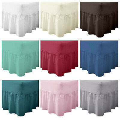 Percale Fitted Valance Sheet Non Iron Sheets Sing, Double, King, Super King