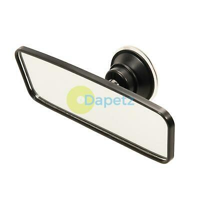 Rear View Mirror Glass Suction Cup Learner Driver Stick On Interior Wide Car
