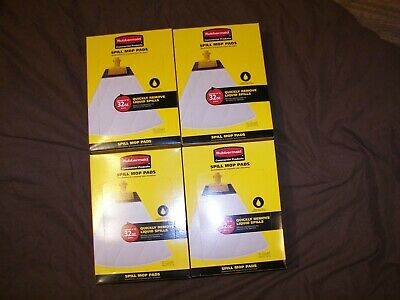 Rubbermaid Biohazard Spill Mop Pads - 4 Boxes - 40 Pads