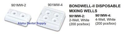 Plasdent Dental Bondwell-II Mixing Wells Disposable 2-Well 4-Well White Box/200