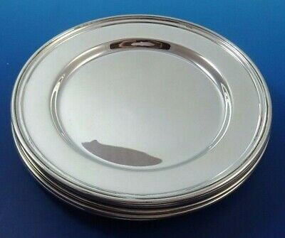 Set of 8 Vintage Sterling Silver Bread & Butter Plates by International #7073