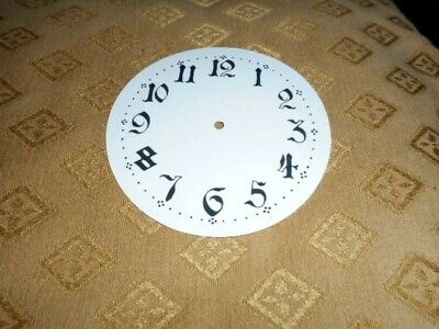 Round Paper Clock Dial - 47mm M/T - Ornate Arabic - GLOSS WHITE- Spares/Parts