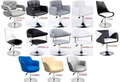 Beauty Spa Salon Gas Lift Hairdressing Salon Chairs Faux Leather, 13 models !!