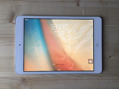 Apple iPad Mini, WIFI+ 4G, 16GB, White Silver, Grade A, UNLOCKED any Network!