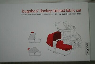 Bugaboo Donkey Tailored Fabric Set (Extendable Sun Canopy) in Red