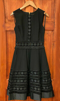 Ted Baker NEW Black Lace Wedding Cocktail Occasion Prom Dress Size 1-5 & UK 8-16