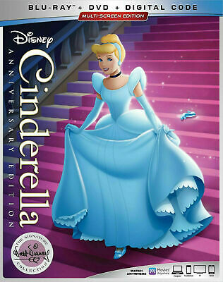Cinderella - Anniversary Edition [Blu-ray+DVD] New and Sealed!!