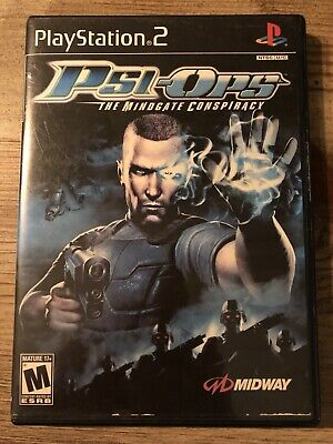 Psi-Ops : The Mindgate Conspiracy - Ps2 (Playstation 2) Box & Game , No Manual !