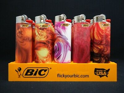 9 Bic Lighters Bohemian Geometric Regular Size Disposable (1 Lighter Per Design)