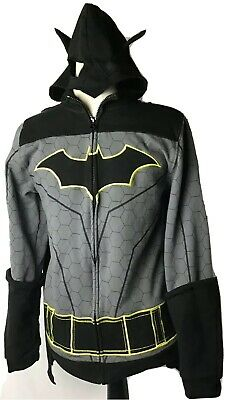 BATMAN Jacket Costume (s17) XL Embroidered Cape Hat Mask Arm Guard Hoodie