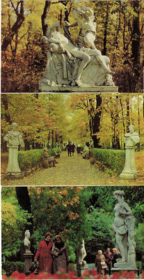 THE STATUES OF THE SUMMER GARDEN in Leningrad 18 color postcards R/E captions