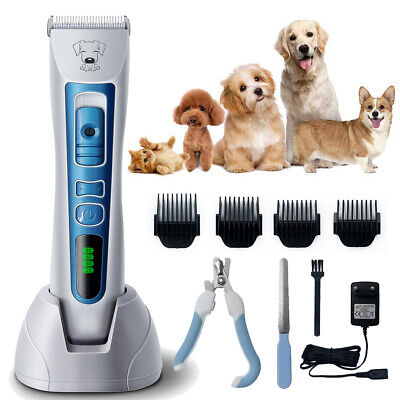 Pet Shaver Hair Clipper Low Noise Cordless Electric Dog Cat Grooming Trimmer Kit