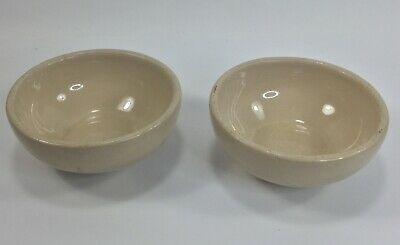 2 TAN BEIGE Vintage Tepco Restaurant Ware Cereal Soup Chili Bowls  USA China