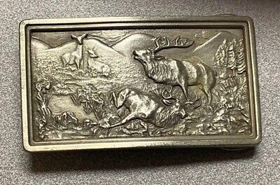 Vintage 1977 Bergamont Brass Works Belt Buckle