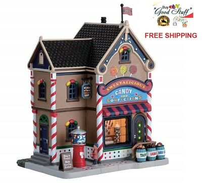 Lemax Village Collection Building Sweetalicous Candy Shop Christmas Decor Gift