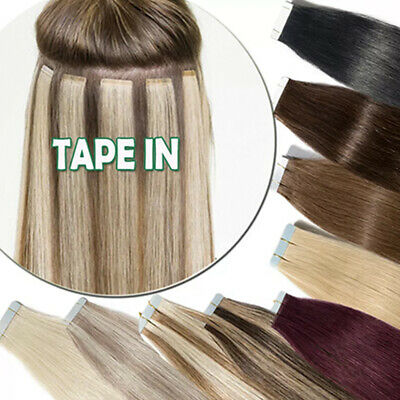 Tape In Human Hair Extensions Real 100% Brown Mix Blonde 613 60 Ombre Magical AU