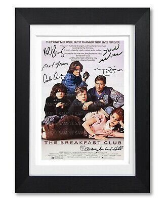 The Breakfast Club Movie Cast Signed Poster Print Photo Autograph 1985 Film Gift
