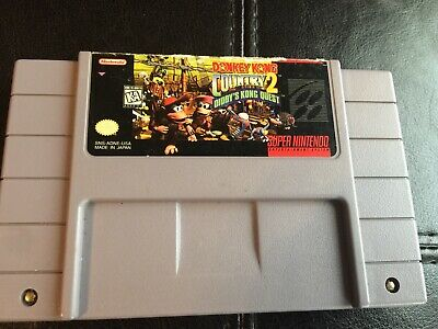 Super Nintendo SNES Donkey Kong Country 2 Video Game