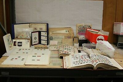 Antique Stamp Collection Huge Lot Unsearched  + war ration books and old bill