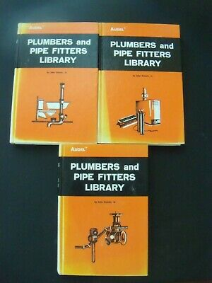 (3) Audel Plumbers and Pipe Fitters Library Vols 1-3, 1st edition 6th print 1974