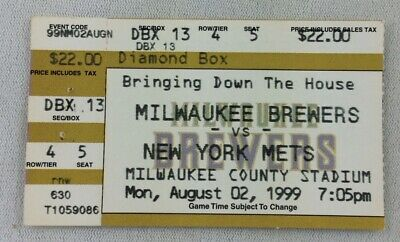 MLB 1999 08/02 NY Mets at Milwaukee Brewers Ticket Stub-Mike Piazza HR#222
