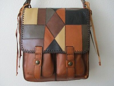 Patricia Nash Armeno Stitched Italian Leather Messenger Purse - Nwt