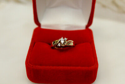 Diamond Engagement Or Promise Ring Sz 5.25 10k Yellow Gold