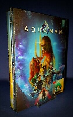 Aquaman Hdzeta Exclusive 4K Ultra Hd Blu Ray Steelbook * Lenticular Cover *