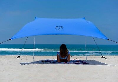 Neso Tents Beach Tent with Sand Anchor, Portable Sun Shelter (Periwinkle)-USED