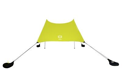 Neso Tents Beach Tent with Sand Anchor, Portable Canopy Sun Shelter (Lemon)-USED