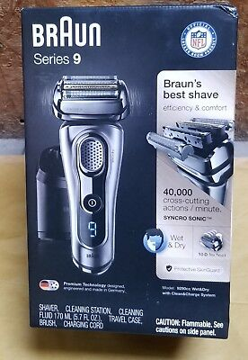 Men's Braun Series 9 Wet & Dry Electric Shaver w/ Clean & Charge System - 9290cc