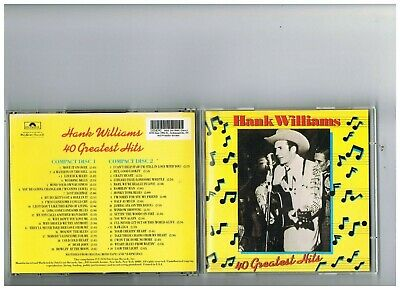 Hank Williams 2 Cd Set. 40 Greatest Hits.the Best Of..