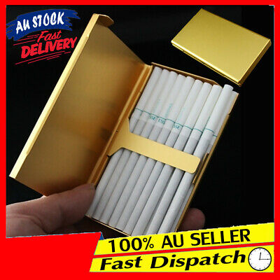 Elegant Aluminum Box Cigarette Case Holder Wiredrawing Gold S6 Thin 20 Slim