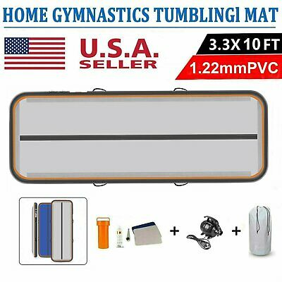 US Stock 10FT Air Track Floor Home Gymnastics Tumbling Mats Inflatable GYM +PUMP