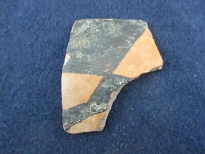 Ancient Painted Pre-Columbian Decorated Pottery Piece Aztec Mayan Inca