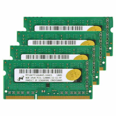 32GB 4x8GB For Micron SODIMM DDR3L 12800 1600MHz 204Pin Notebook Laptop 1.35V rl