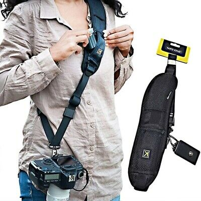 Camera Shoulder Neck Strap Quick Release and Safety Tether Universal Camera Belt