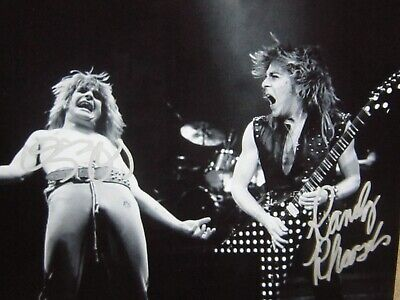 Ozzy Osbourne Randy Rhoads autographed photo signed wCoa